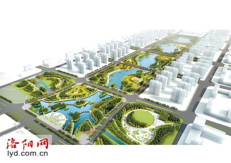 将形成一个巨型的中央生态公园,是我市新区城市中轴线的重要景观带.
